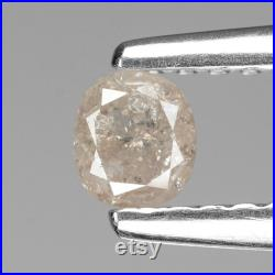 0.19 Cts Natural Loose Diamond Oval Pink Color Diamond 3.6 MM Fancy Color