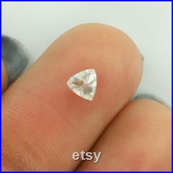 0.37 CT Triangle Shape Natural loose Diamond Salt And pepper Color For Engagement Ring and Wedding Ring I3 Clarity 4.18 MM SKU-ON5-16