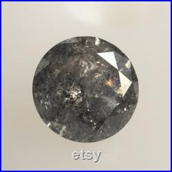 0.38 Ct Natural Loose Diamond Round Brilliant Grey Salt And Pepper Color i3 Clarity 4.60 MM x 2.75 MM, Round Diamond SJ61 37