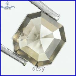 0.53 CT, Emerald Diamond, Natural Loose Diamond, Emerald Cut, Gray Diamond, Milky Diamond, Gifts, Diamond, Jewelry, Diamond Ring,IFCI-22
