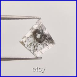 0.65 CT Salt and Pepper Diamond Natural Loose Diamond Polished Diamond Feceted Diamond Jewelry Engagement ring Jewelry Diamond CK0278