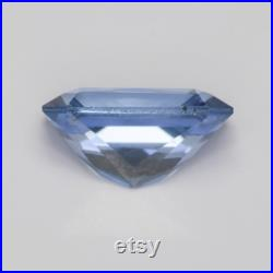 0.651 Carat Blue Sapphire Good Cut Radiant 6 x 4 mm Calibrated Heated Loose Stone