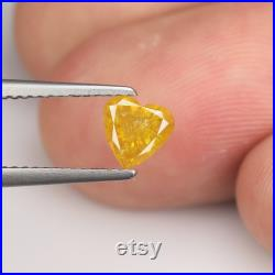 0.65cts Yellow Rose Cut Heart Natural Loose Diamond SEE VIDEO