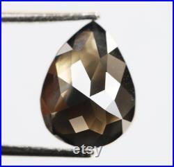 1.09 Ct, 7.8 X 5.8 X 3.3 MM, Natural Loose Diamond Fancy Black Color Pear Shape Polished Diamond, Sparkling Diamond, Diamond Jewelry, DG5958