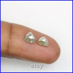 1.24 CT Salt and Pepper Triangle Shape Diamond Pair
