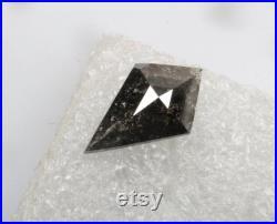 1.25 CT 11.9 X 7.2 MM Salt and pepper Kite Shape Diamond, Natural loose Kite cut diamond, Black color Kite shape Diamond ring jewelry R8219