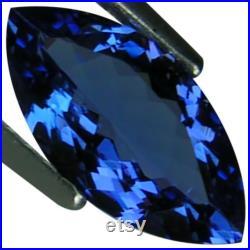 1.28 Ct AAA Natural D Block Tanzanite Medium Dark Blue Violet Color Marquise Cut