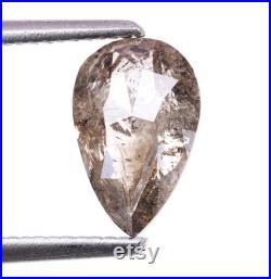 1.46 CT, 9.1 X 5.9 MM, Salt and Pepper Diamond, Pear Shape Faceted Diamond, Engagement Ring Jewelry Diamond, Best Price Diamond OM1367