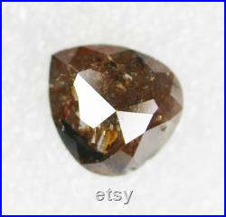 1.51 CT, 8.20 X 7.50 MM, Salt And Pepper Brown Color Diamond, Pear shape , Engagement Ring Jewelry Diamond, Best Price Diamond SG6098
