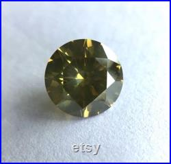1.51ct GIA certified natural Deep Greenish Yellow diamond, no treatment