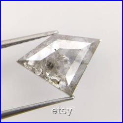 1.54CT 8.2 11.1 mm saltand pepper Diamond Naturalloe diamond,Diamond cut shape,Engagemet Ring Diamond,Best price Ck0193