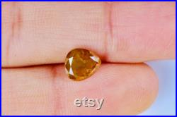 1.57 CT, 7.30 X 6.84MM, 3.78MM Heart Shape Natural Loose Fancy Diamond Yellow color, Engagement Ring jewelry Diamond, Best Price DK01