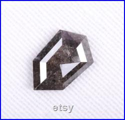 1.65 CT, 10.7 X 6.7 MM, Natural Loose Diamond, Salt and Pepper Diamond, Shield Cut Faceted Diamond, Polished Diamond,Best Price Diamond OM1228