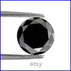 1.88 CT 7.9 MM Sparkling Polished Black Brilliant Cut Sparkling Faceted Pointed Loose Best Quality Diamond Perfect For Gifting Ring