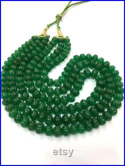 1 Strand Of 18 Inch Natural Green Beryl Carved Rondelle Beads Beryl Pumpkin Shape Beads Beryl melon Shape Beryl Faceted Beads Top Quality