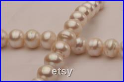 10-14mm Large Edison pearl necklace,nuclear pearl strand,natural white circle pearl beads.LWED07