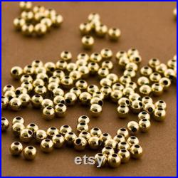 1000pc Gold filled Beads, 3mm Gold filled Round Beads, Seamless Gold fill Beads, 14k 14 20 round Beads, Round gold Beads, Gold Seed Bead