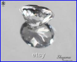 10128 Faceted Natural White Topaz