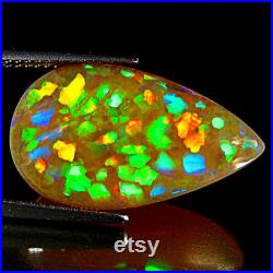 11.55Ct Phenomenal Extreme Color Play 3D Honey Comb Welo Semi Black Opal