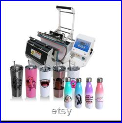 11oz 15oz 20oz 30oz sublimation tumbler mug bottle Heat press Machine All In One Sale