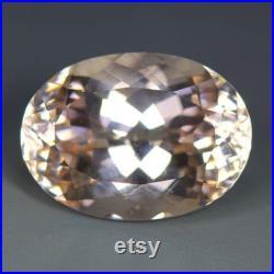 12.39 Cts world Musium Marvelous Loose Gemstone 100 Natural Morganite brazil