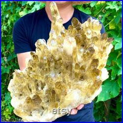 12500g Large Natural Rare Beautiful Citrine Quartz Cluster Crystal Specimen