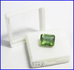14.25 Ct Certified Natural Emerald Shape Color Changing Alexandrite Loose Gemstone For Ring and Pendant FD1489