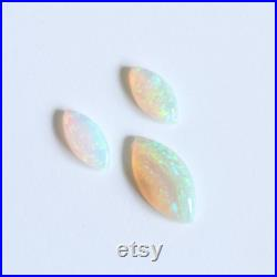 14x7mm 10x5mm 1.92ct (set of 3) White light crystal opalsmarquise Natural solid loose stones from Coober Pedy SA Australia
