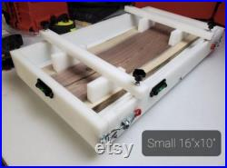 16x10 HDPE Reusable Epoxy Mold Form Resin 16 in x 10 in Charcuterie Board Mold Clamping, level and leveling feet included 2 pour epoxy