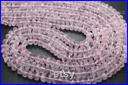 17 Inches Strand, AAA Quality, Rare 100 Natural Morganite Aquamarine Faceted Rondelle Shape Beads, Size-5.00-7.00mm Approx (AQ-053)