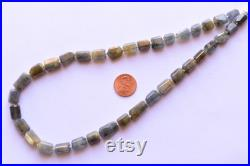 17 Inches UNTREATED MULTI SAPPHIRE Faceted Tumble Shape Tubes Natural Gemstone Briolette Center Drill Beads Line Precious Gemstone Beads
