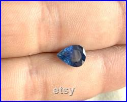 1Pcs 7x9 mm Natural Blue Sapphire Gemstone 1.85Cts Blue Sapphire Faceted Handmade Jewelry Making Pear Shape Blue Sapphire G250