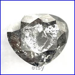 2.39 Carat 8.4 7.2 mm Natural Heart Diamond, Salt And Pepper Heart Shape Diamond, Best Diamond For Anniversary Gift, Rose Cut Diamond