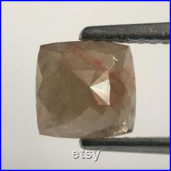 2.72 Ct Cushion Shape Brownish Grey Natural Loose Diamond 7.39 mm X 7.23 mm X 4.19 mm Cushion Shape Rose Cut Natural Loose Diamond SJ44 55