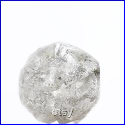 2.96 Carat Natural Light Gray Roundish Rough Diamond,Natural Rough Diamond ,Conflict Free Rough Diamond, Natural Loose Diamond For Jewelry