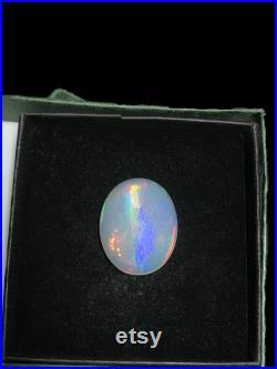 20.04 carat Natural Multi-color rainbow fires textured Ethiopian Translucent Opal Semi-precious gemstone for jewelry making October gem