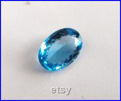 20 x 14 mm Faceted oval Swiss Blue Topaz Natural Gemstone Flawless Clean and Fine Blue Topaz Ring Gemstones Excellent cut Big Oval Topaz