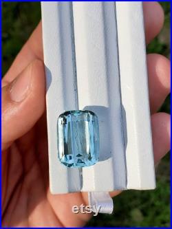 21.9 ct loose aquamarine gemstone March birthstone aquamarine cushion natural genuine aquamarine stone top quality aqua unheated