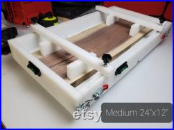 24x12 HDPE Mold Form for Resin Reusable 24in X 12 in Charcuterie Mold Clamping, level and leveling feet included 12 X 24 Epoxy Form