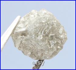 3.93 Ct, 9.0 x 8.0 X 7.1 MM, Natural Loose Diamond Rough Gray Color Cube Shape I3 Clarity Rough Raw Uncut Diamond, Huge Collection, DG1285