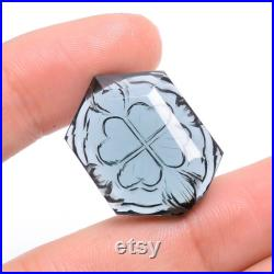 31 Ct. Classic Top Grade Quality 100 Natural Fancy Shape Carved Loose Gemstone For Making Jewelry 25X18X9 mm R-3589