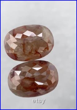 4.07 Carat Weight Natural Loose Diamond salt and pepper Diamond Oval shape Diamond Pair for Diamond Earring or Diamond ring 10.16X 7.28 MM