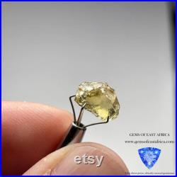 4.53ct Yellow Tourmaline Crystal, VVS-IF, Tanzania, Untreated Unheated. 10.2 x 7 x 6mm