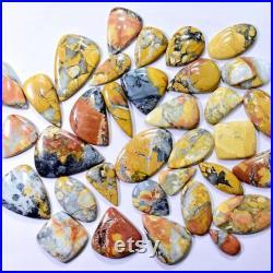 400 Carat Set of 4 Lot Of Natural Maligano Jasper, Green Prehnite, Blue Tiger Eye, Dendritic Opal cabochon lot 100 CT X 4 400 CT Total