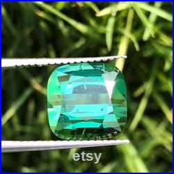 5.75CT Bluish Green Colour Tourmaline Loose Gemstone From Afghanistan