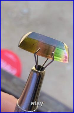 5.9 carats beautiful multi colour tourmaline cabochon ethically sourced from Afghanistan.