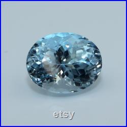 5 Ct AAA Natural Faceted AQUAMARINE Oval Cut Gemstone, Excellent Luster, Loose Aquamarine, High Quality Aquamarine Stone For Making Pendant