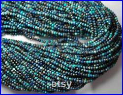 5 strands 15 INCHs natural Disco Chrysocolla micro faceted rondelles loose gemstone beads, 2mm to 3mm size gemstone jewelry