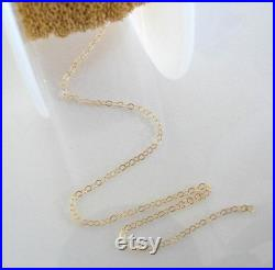 50 feet Gold Filled Cable Chain Custom Lengths Available, Made in USA, CG1