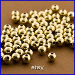 500pc 6mm Gold Filled Seamless Round Beads. Plain Gold Spacer Beads. Medium Gold Balls, 14kt Gold Filled. Wholesale Gold Beads, Bulk Lo5